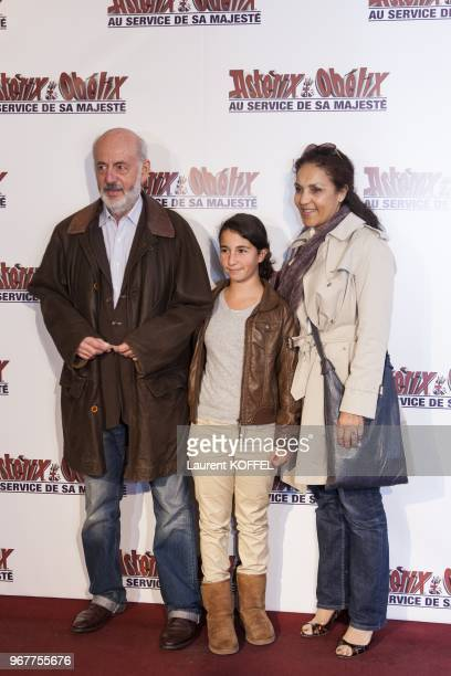 Bertrand Blier attends at 'Asterix et Obelix au service de sa majeste' film premiere at 'Le Grand Rex' on September 30 2012 in Paris France
