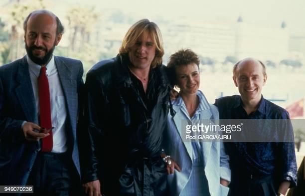 Bertrand Blier director of 'Tenue de soiree' Gerard Depardieu MiouMiou and Michel Blanc