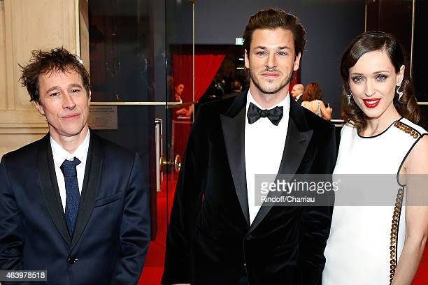 Bertrand Bonello Gaspard Ulliel and Gaelle Pietri attend the 40th Cesar Film Awards 2015 Ceremony at Theatre du Chatelet on February 20 2015 in Paris...