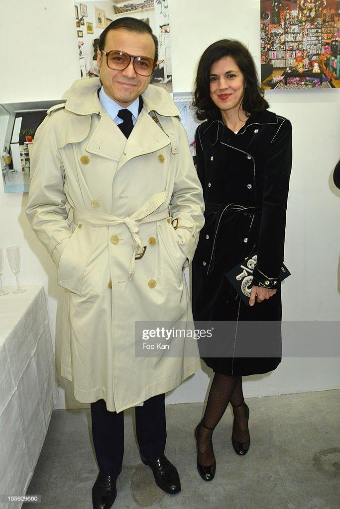 Bertrand Burgalat and Vanessa Seward attend 'Les Parisiennes' - Photo Exhibition Preview at Galerie Clementine De La Feronniere on November 8, 2012 in Paris, France.