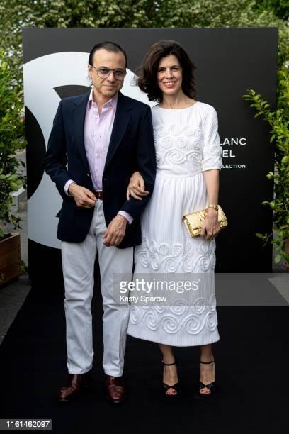 Bertrand Burgalat and Vanessa Seward attend the Noir et Blanc de Chanel Fall/Winter 2019 Makeup Collection Yachts De Paris on July 11 2019 in Paris...