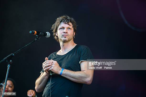 Bertrand Cantat performs with Amadou et Mariam at Eurockeennes Music Festival on June 29 2012 in Belfort France