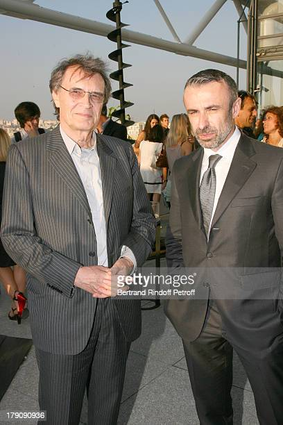 Bertrand De Labbey and Alain Seban at Private Viewing Of The Exhibition elles@centrepompidou Featuring Works Of More Than 200 Female Artists Of The...