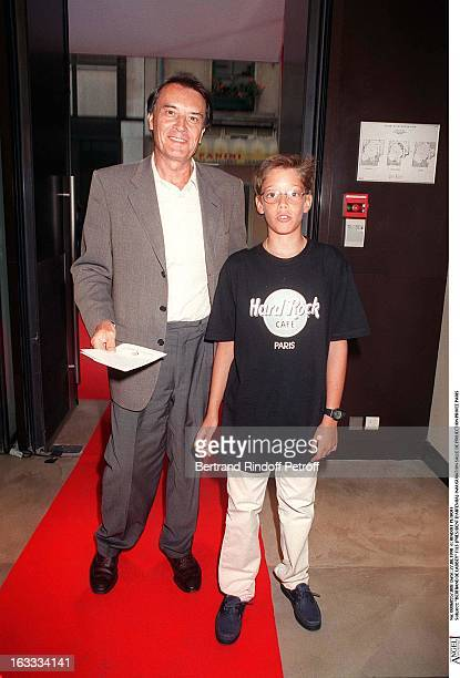 Bertrand De Labbey and child at theOpening Night Of The Private Screening Room At Elysees Biarritz In Paris