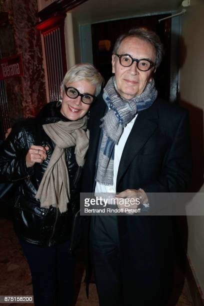Bertrand de Labbey and his wife Marcia attend Depardieu Chante Barbara at Le Cirque D'Hiver on November 14 2017 in Paris France