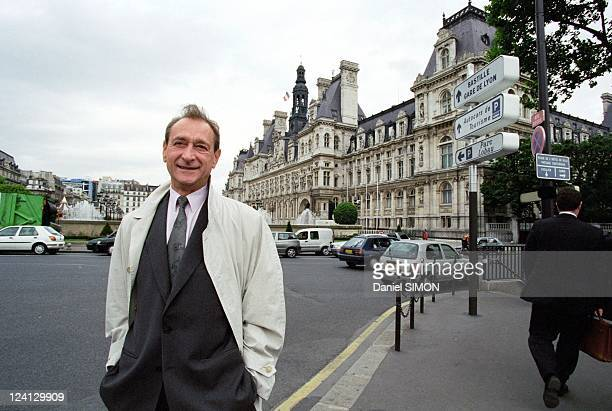 Bertrand Delanoë, candidate to Paris City hall at the quay of Saint Louis island In Paris, France On May 26, 2000.