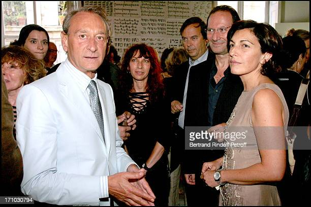 Bertrand Delanoe and Ruth Elkrief Party at Marek and Clara Halter place for the Jewish new year's eve The couple receive their friends at their...