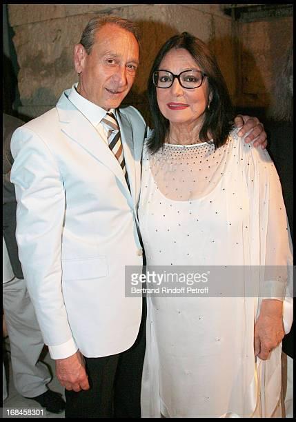 Bertrand Delanoe Mayor of Paris and Nana Mouskouri at Nana Mouskouri's Farewell Concert At Odeon Herodes Atticus In Athens