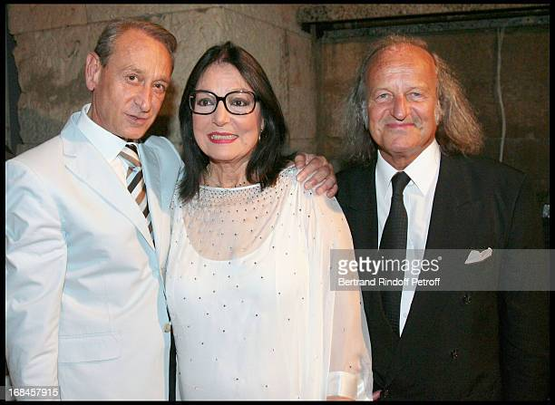 Bertrand Delanoe Nana Mouskouri and her husband Andre Chapelle at Nana Mouskouri's Farewell Concert At Odeon Herodes Atticus In Athens