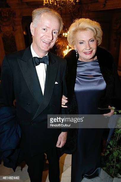 Bertrand Du Vignaud and Monique Raimond attend Weizmann Institute celebrates its 40 Anniversary at Opera Garnier in Paris on January 12 2015 in Paris...