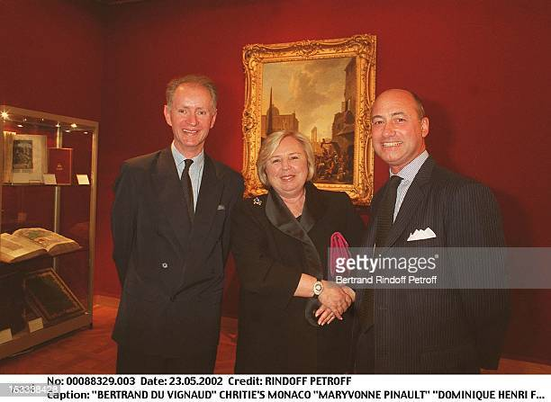 Bertrand Du Vignaud Chritie'S Monaco Maryvonne Pinault Dominique Henri Freiche chairman of Christie's France party at Christie's collection of the...