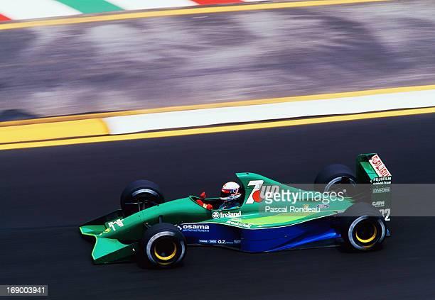Bertrand Gachot drives the Team 7UP Jordan Jordan 191 Ford HB4 V8 during the Mexican Grand Prix on 16th July 1991 at the Autódromo Hermanos Rodríguez...
