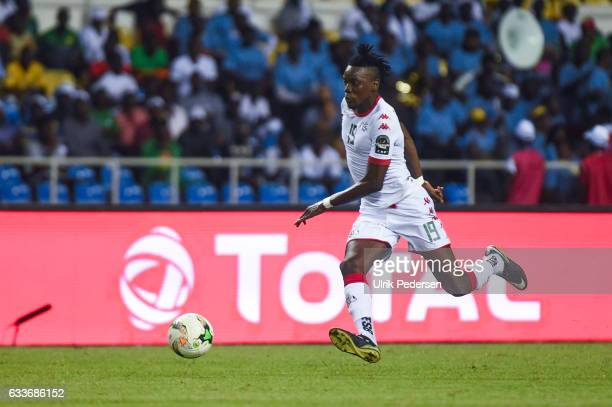 Bertrand Isidore Traore of Burkina Faso during the African Nations Cup Semi Final match between Burkina Faso and Egypt at Stade de L'Amitie on...