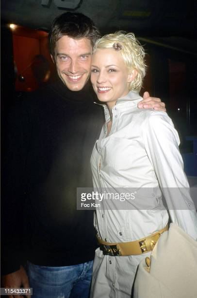 Bertrand Lacherie and Elodie Gossuin during Get Rich or Die Tryin' Paris Screening February 20 2006 at Planet Hollywood in Paris France