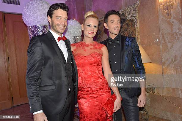 Bertrand Lacherie Best 2014 awarded Elodie Gossuin and Maxime Dereymez attend 'The Best' Awards 2014 Ceremony At Salons Hoche on December 15 2014 in...