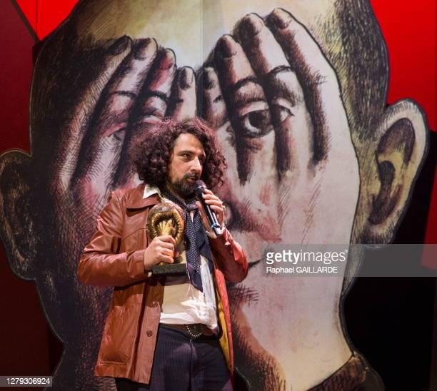 Bertrand Mandico lors de la remise des Topor d'Or 2018, événement conçu et réalisé par Jean Michel Ribes, prix de l'inattendu du spectacle vivant au...