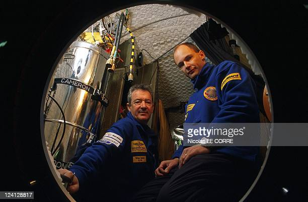 Bertrand Piccard the Breitling Orbiter III In Switzerland On February 09 1999 With his new teammate Brian Jones