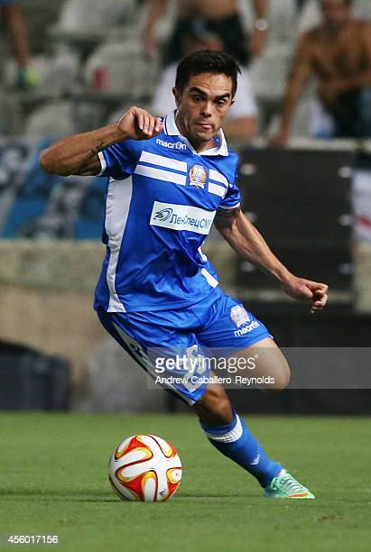 Bertrand Robert from Apollon Limassol FC in action in the UEFA Europa League match between Apollon Limassol FC ad FC Zurich on September 18 2014 in...