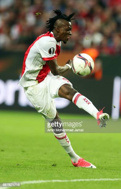 Bertrand Traore of Ajax in action during UEFA Europa League Final match between Ajax against Manchester United at Friends Arena on May 24 2017 in...