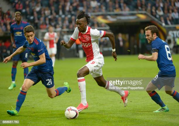 Bertrand Traore of Ajax with Ander Herrera of Manchester United during the UEFA Europa League final between Ajax and Manchester United at the Friends...