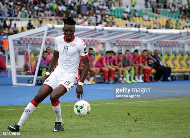 Bertrand Traore of Burkina Faso in action during the 2017 Africa Cup of Nations quarterfinal football match between Burkina Faso and Tunisia at the...