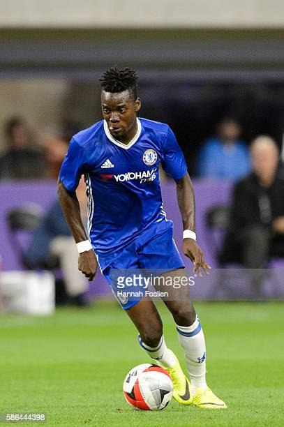 Bertrand Traore of Chelsea controls the ball against AC Milan during the first half of the International Champions Cup match on August 3 2016 at US...