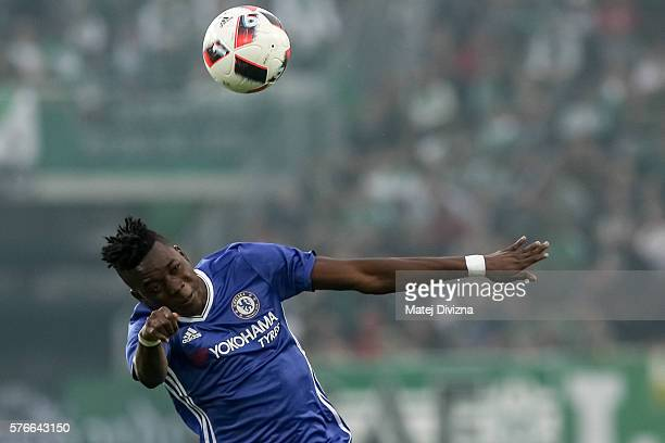 Bertrand Traore of Chelsea in action during an friendly match between SK Rapid Vienna and Chelsea FC at Allianz Stadion on July 16 2016 in Vienna...