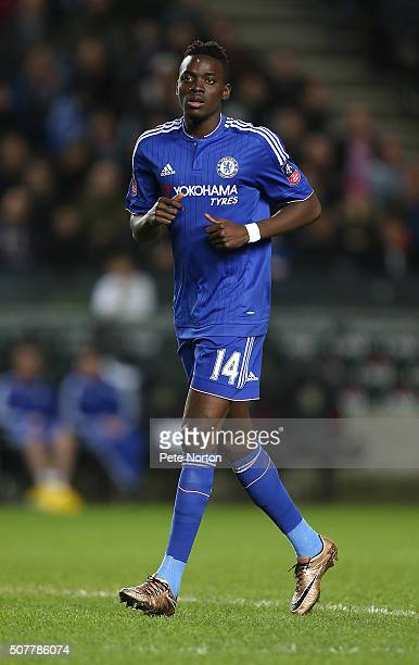 Bertrand Traore of Chelsea in action during The Emirates FA Cup Fourth Round match between Milton Keynes Dons and Chelsea at Stadium mk on January 31...