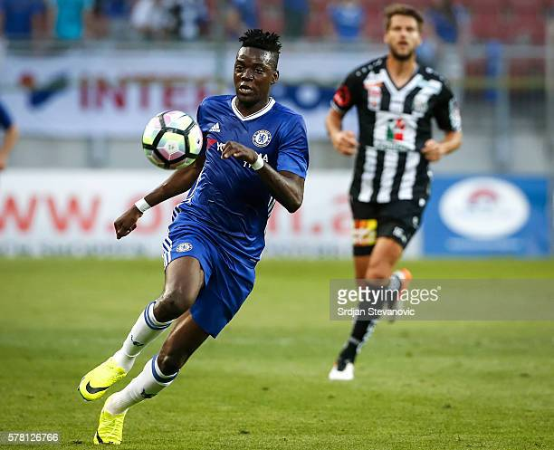 Bertrand Traore of Chelsea in action during the friendly match between WAC RZ Pellets and Chelsea FC at Worthersee Stadion on July 20 2016 in Velden...