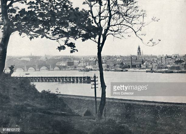 'Berwick From Spittal Showing Berwick Bridge' 1895 From Round the Coast [George Newnes Limited London 1895]Artist Unknown