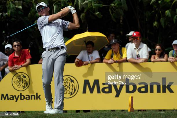 Bery Henson of the United States in action during day four of the Maybank Championship Malaysia at Saujana Golf and Country Club on February 4 2018...