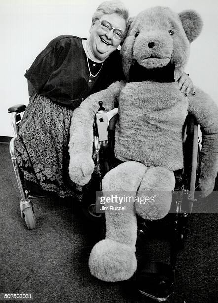 Beryl and her bear Beryl Potter says legislation isn't enough to change studetn attitudes about the disabled She and her disabled bear will visit...