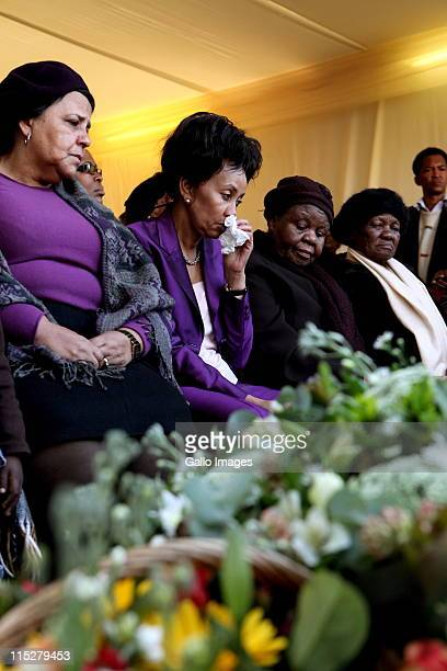 Beryl and Lindiwe Sisulu with Sister Bernard Ncube at a prayer meeting convened by the ANC Women's League on June 5 2011 in Johannesburg South Africa...