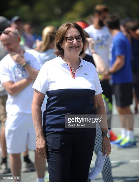 Beryl LacosteHamilton attends the LACOSTE And City Parks Foundation Host Tennis Clinic In Central Park on August 27 2017 in New York City