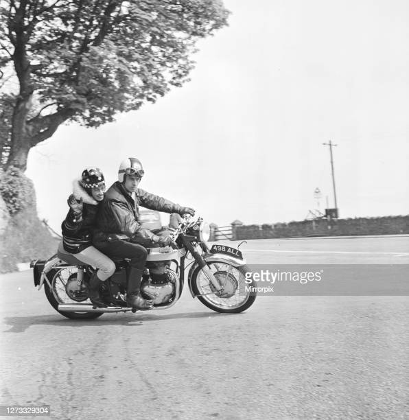 Beryl Swain motorcycle road racer and the first woman to compete solo in a TT road race on the Isle of Man course she competed in the 50cc...