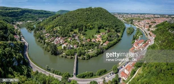 Besançon , le Doubs, Chaudanne et Besançon vus depuis la citadelle.