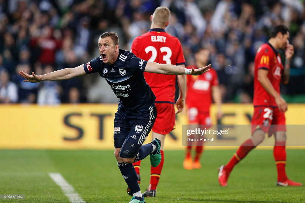 A-League Elimination Final - Melbourne v Adelaide : News Photo
