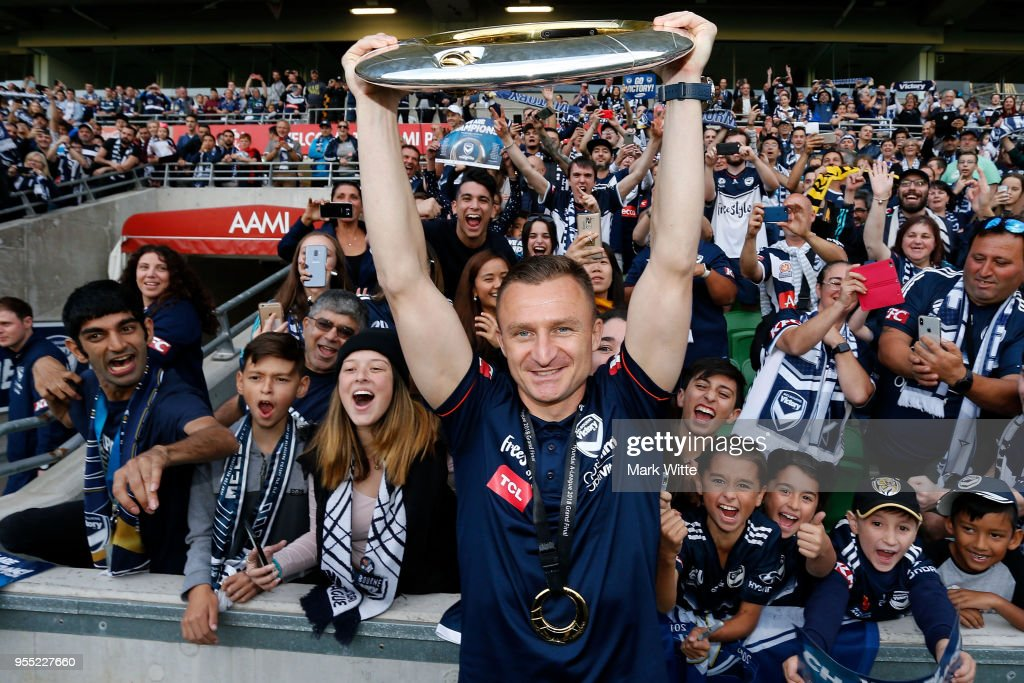Melbourne Victory Celebrate A-League Grand Final Win