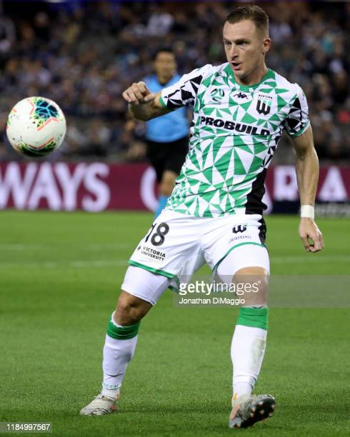 Besart Berisha of Western United in action during the round four ALeague match between Melbourne Victory and Western United at Marvel Stadium on...