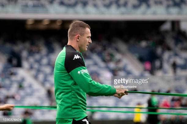 Besart Berisha of Western United warms up before the Hyundai A-League soccer match between Western United FC and Adelaide United on December 28, 2020...
