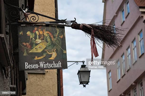 'Besenwirtschaft' sign  in Tübingen