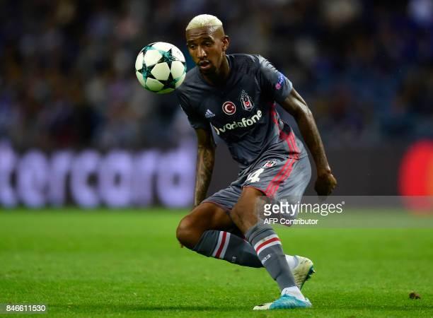 Besiktas' Brazilian midfielder Talisca controls the ball during the UEFA Champions League football match FC Porto vs Beskitas JK at the Dragao...