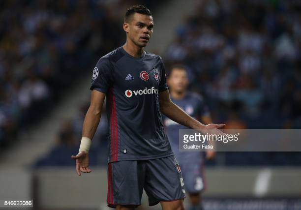 Besiktas defender Pepe from Portugal during the UEFA Champions League match between FC Porto and Besiktas JK at Estadio do Dragao on September 13...
