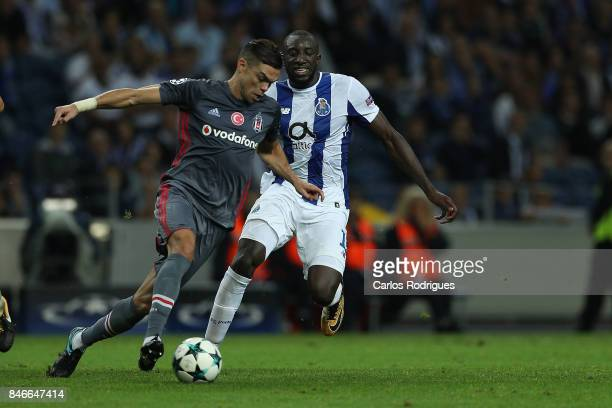 Besiktas defender Pepe from Portugal vies with FC Porto's forward Moussa Marega from Mali for the ball possession during the match between FC Porto v...