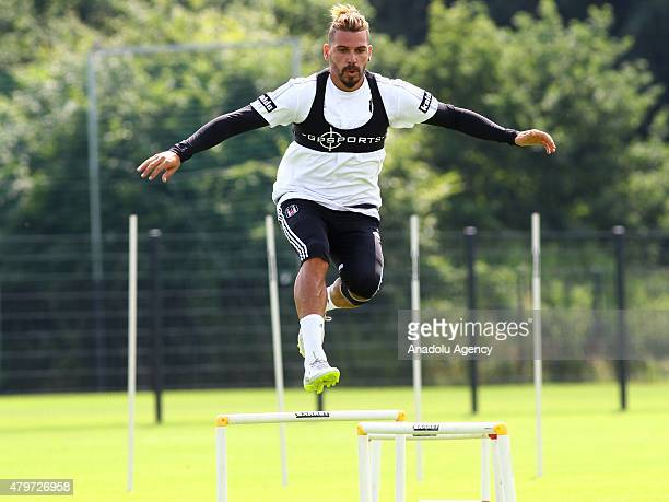 Besiktas' Ersan Gulum attends the training session of their club in Marienfeld, Germany on July 6, 2015. Besiktas came to Germany for the first stage...