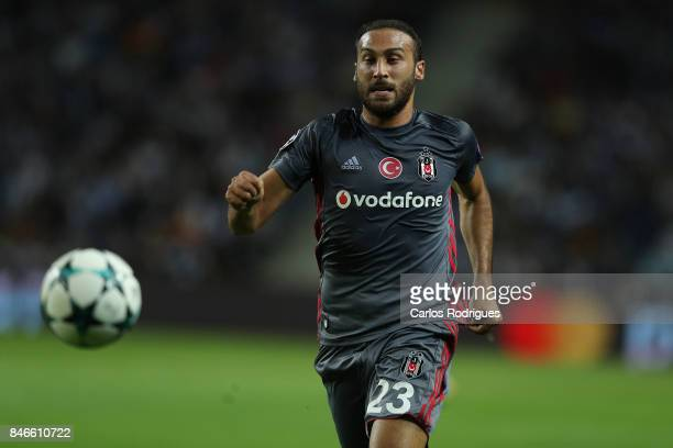 Besiktas forward Cenk Tosun in action during the match between FC Porto v Besiktas JK for the UEFA Champions League match at Centro de Treino do...