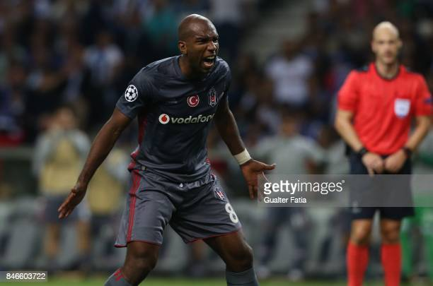 Besiktas forward Ryan Babel celebrates after scoring a goal during the UEFA Champions League match between FC Porto and Besiktas JK at Estadio do...