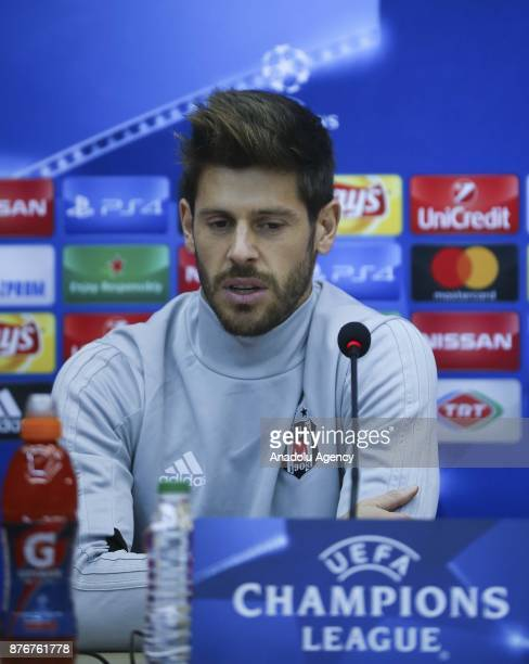Besiktas' goalkeeper Fabricio answers the questions during a press conference ahead of UEFA Champions League Group G match between Besiktas and Porto...