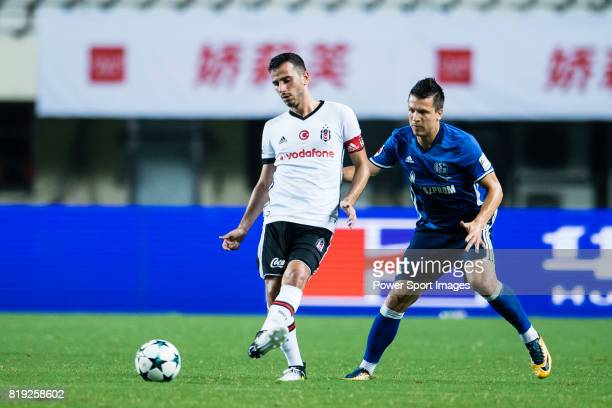 Besiktas Istambul Midfielder Oguzhan Ozyakup plays against FC Schalke Midfielder Yevhen Konoplyanka during the Friendly Football Matches Summer 2017...