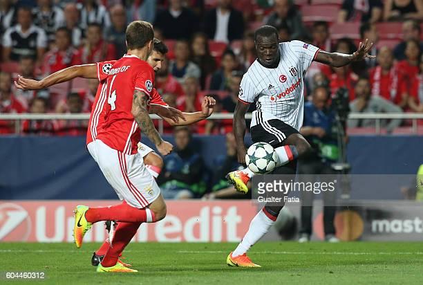 Besiktas JK's forward Vincent Aboubakar in action during the UEFA Champions League match between SL Benfica and Besiktas JK at Estadio da Luz on...